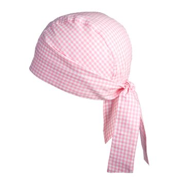 Bandana Vichykaro rosa personalisierbar mit Namen