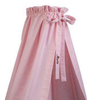 Betthimmel Vichykaro rosa - personalisierbar mit Namen