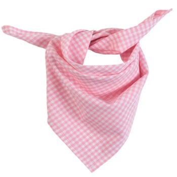 Halstuch Vichykaro rosa - personalisierbar mit Namen