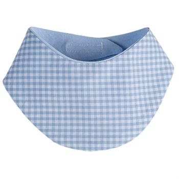 Klett-Halstuch Vichykaro hellblau personalisierbar mit Namen