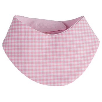 Klett-Halstuch Vichykaro rosa personalisierbar mit Namen