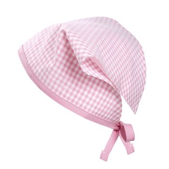 Kopftuch Vichykaro rosa personalisierbar