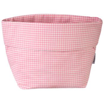 Utensilo Vichykaro rosa - personalisierbar mit Namen