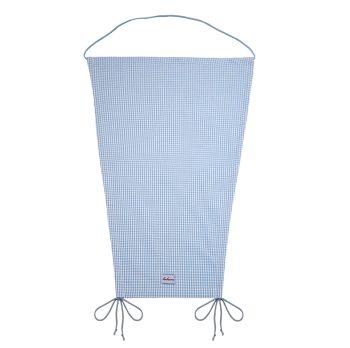 Sonnensegel Vichykaro hellblau personalisierbar mit Namen
