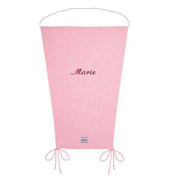 Sonnensegel Vichykaro rosa personalisierbar mit Namen